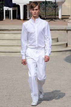 Pleated pants? Hmmmmmm  Corneliani   Spring 2015 Menswear Collection   Style.com