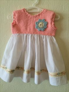 DaisyBlue - knitted dress for baby