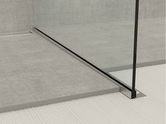 Bordo in acciaio inox per pavimenti GLASS PROFILE GPS1
