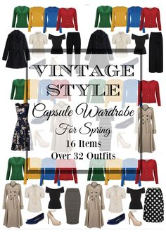 How to create and build a vintage and retro inspired capsule wardrobe for Spring.