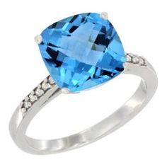https://ariani-shop.com/14k-white-gold-natural-swiss-blue-topaz-ring-9-mm-cushion-cut-diamond-accent-sizes-5--10 14K White Gold Natural Swiss Blue Topaz Ring 9 mm Cushion-cut Diamond accent, sizes 5 - 10