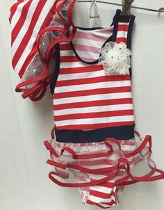 Navy Blue Knit Cardigan with White Stars and Stripes Pattern and Red Buttons Girls Size 3T Acrylic Blend Short Sleeve 4th of July