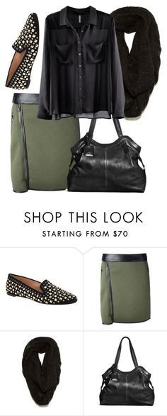 """""""Office Goth #4"""" by goth-proxy ❤ liked on Polyvore featuring J.Crew, 3.1 Phillip Lim, Paula Bianco, Danier and H&M"""