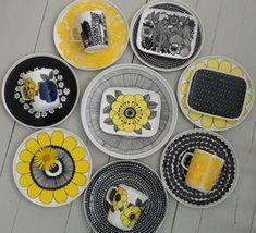 Keltainen kahvipannu: Eräs heikkouteni Ceramic Plates, Ceramic Pottery, Diy Quiet Books, Kitchenware, Tableware, Marimekko, Ceramic Painting, Scandinavian Design, Coupon Codes