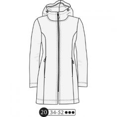 Techno jersey is the suggested fabric but I have a stretchy water resistent woven that should work. Coats For Women, Jackets For Women, Coat Patterns, Cardigans, Sweaters, Blazer, Couture, Outerwear Women, Adidas Jacket
