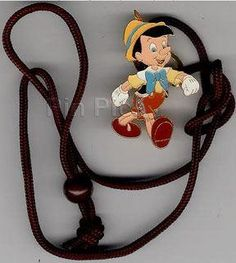 Disney's Lanyard - Pinocchio Cast Member Only Pin