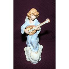 Lladro Heavenly Song Angel Figurine Retired #2197 ($175) ❤ liked on Polyvore featuring home and home decor