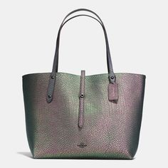 COACH Coach Market Tote In Hologram Leather