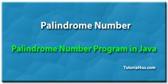 Palindrome number program in java