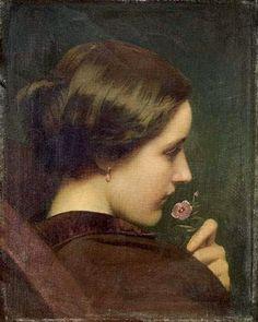 Portrait présumé de Louise Vernet. - Paul Delaroche French 1797-1856