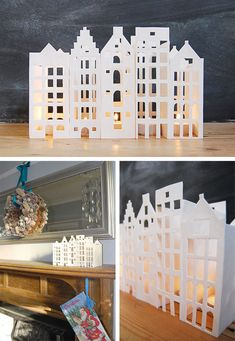 Dutch Inspired Tea Light Houses with Free Printable | www.littlehouseonthecorner.com