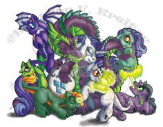 """Encore: In your dimension these mares are concidered """"The Mane Six"""" but in my dimension they are my friends and they are much different then your's.. I know.. I've meet them... ~~~~~~~ From left to..."""