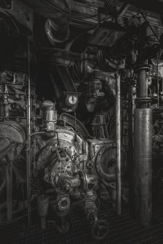 Steam Machinery - I love that smell of steel, iron and old machine oil. And it's always a pleasure to dive into these giant machines and forgetting time and space. And I love it just these dark images in black and white.  I hope you enjoy it and wish you all good Night...
