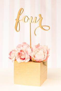 Wedding Table Numbers for Floral Arrangements
