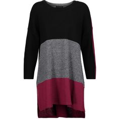 rag & bone Jena oversized striped cotton sweater (825 MYR) ❤ liked on Polyvore featuring tops, sweaters, plum, loose fitting tops, stripe top, loose fitting sweaters, oversized striped sweater and drop-shoulder tops