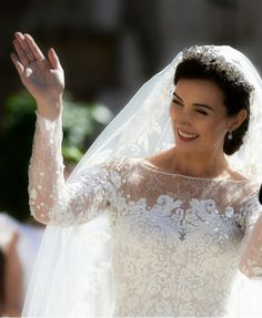 europeanmonarchies:  Religious wedding of Prince Felix of Luxembourg and Claire Lademacher, now Princess Claire of Luxembourg, France, September 21, 2013-Princess Claire