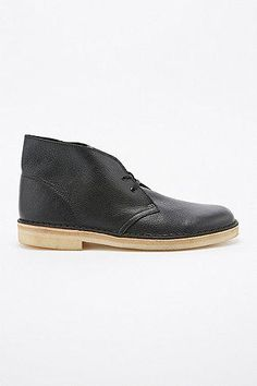 Clarks Tumbled Leather Desert Boots in Black #shoes #men #covetme #clarks