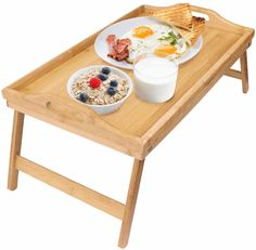 Greenco Bamboo Foldable Breakfast Table Laptop Desk Bed Table Serving Tray * Read more at the image link. (This is an affiliate link and I receive a commission for the sales) Bed Tray Table, Desk Tray, Tv Trays, Table Desk, Laptop Desk For Bed, Laptop Tray, Desk Bed, Lap Desk, Breakfast Tray