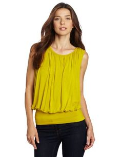 Kenneth Cole Women's Knit Top Gathers, Bright « Shirt Add