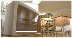 Diseño de Pequeña cafetería en acuario