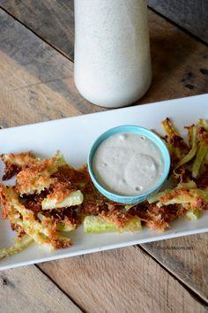 Zucchini Fries Recide and Homemade Ranch Dressing Recipe | theidearoom.net