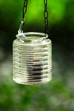 Hanging wedding lantern Mason jar light alternative glass | Etsy