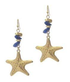 Semi Precious Stone and Fish Hook Starfish Earrings – The House of Awareness