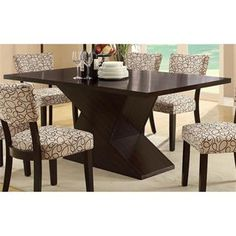 Check out the Coaster Furniture 103160 Libby Dining Table with Hourglass Base in Dark Cappuccino priced at $600.31 at Homeclick.com.