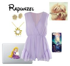 """Disney - Rapunzel"" by briony-jae ❤ liked on Polyvore featuring Roberto Coin, Disney, Mother of Pearl, women's clothing, women, female, woman, misses and juniors"