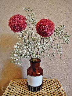 Bommelblümchen oder Pompoms am Stiel