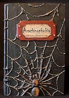 Seeing Things: spider Halloween altered book
