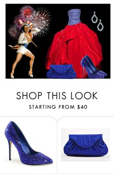 """""""Miss Patriot"""" by sjlew ❤ liked on Polyvore featuring Marchesa and Lauren Merkin"""