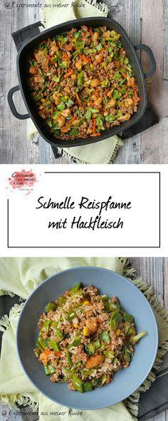 Schnelle Reispfanne mit Hackfleisch   Kochen   Rezept   Essen