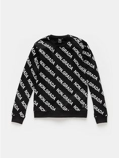 Print sweater zwart - The Sting