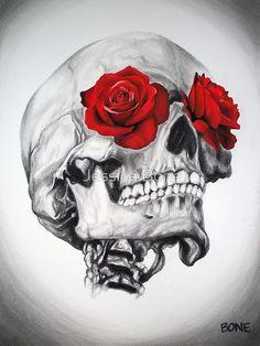 """Rose Eye Skull"" Photographic Prints by Jessica Bone | Redbubble"