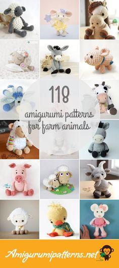 118 Farm Animals Amigurumi Patterns