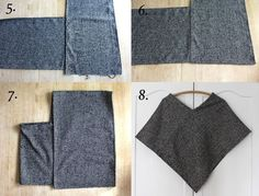 Simple Wool Poncho DIY.
