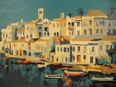 Vintage  Painting ISLAND BOATS  PAINT By Number by vintagevasso, $34.99