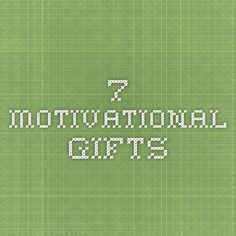 7 Motivational Gifts