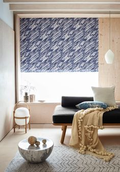 Drift Indigo is a beautiful, lively Roman blind design consisting of a light blue abstract etched on with a deeper blue pattern waved throughout. Take inspiration from the trend for minimalist Scandinavian japandi design trend with this Roman blind. View drift Indigo to see how you can style this blind. Living Etc, Living Room, Roman Blinds Design, House Blinds, Fabric Blinds, Minimalist Scandinavian, Guest Bathrooms, Inspired Homes, Elle Decor