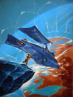 Philippe Bouchet - Cover illustration for Une Porte sur l'Éther by Laurent Genefort, 2000