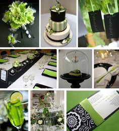 lime green and black wedding theme | Green and Black Wedding