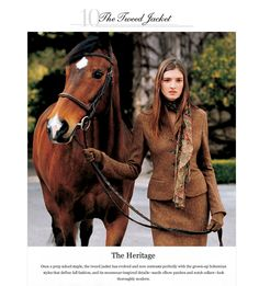 ralph lauren couture gowns | Equestrian Couture: Ralph Lauren Fall 2011 Ralph Lauren Tweed Jacket ...