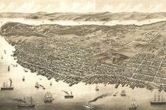 Virtual Tour Map of Halifax - 1879