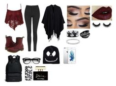 """""""Outfits #48"""" by emelygabriela on Polyvore featuring Dr. Martens, Topshop, Glamorous, Givenchy, Dolce&Gabbana, Michael Kors, women's clothing, women, female and woman"""