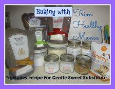 Baking with Trim Healthy Mama + Gentle Sweet Substitute