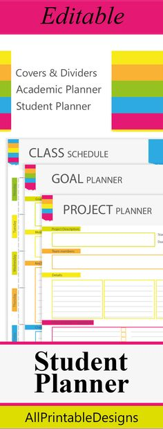 Student planner, College student planner, Student Planner 2015-2016 Get organized your student learning life with this Student Planner. #planner #student #studentplanner #college #academic #study #organize