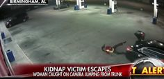 WATCH: Woman Jumps Out Of Car Trunk To Escape Kidnapper