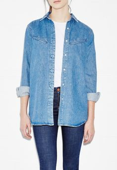 MiH - The Ultimate Denim Shirt - Tailored Stone ($295)
