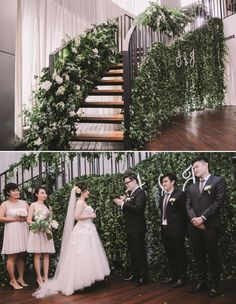 Bring the greenery indoors for a simple but dramatic decor | The Wedding Notebook July 2015